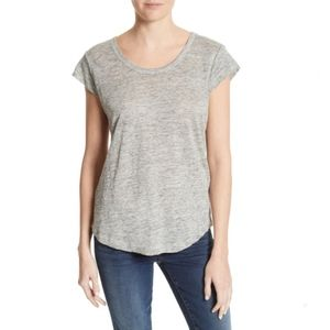 Joie Neyo Linen T-shirt in Gray Size M